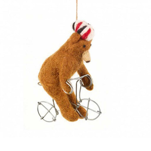 Cycling Bear Hanging - insideout-home