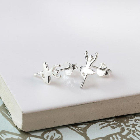 Silver Ballerina Stud Earrings - insideout-home