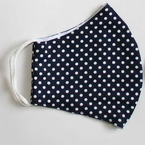 Face Mask Navy Spotty - insideout-home