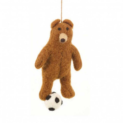 Football Felt Bear Hanging - insideout-home