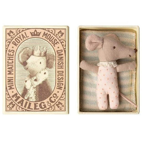 Baby Girl Mouse Sleepy Wakey In A Box - insideout-home