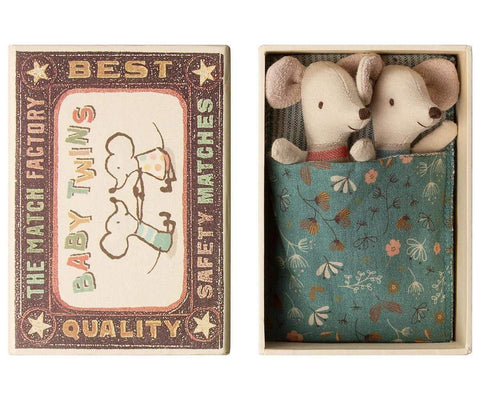 Baby Mice Twins In A Box - insideout-home