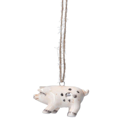 Ceramic Hanging Pig Decoration - insideout-home