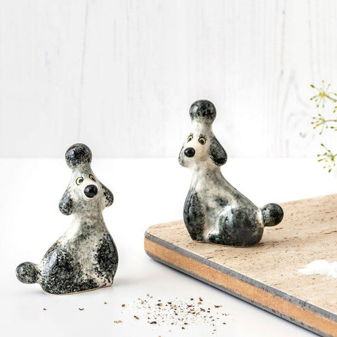 Grey Poodle Salt and Pepper Shaker Set - insideout-home
