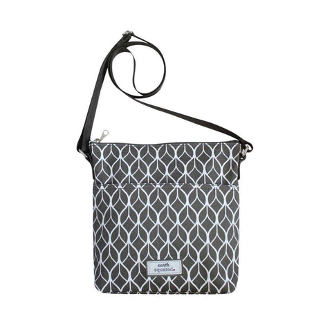 Grey Geometric Oil Cloth Messenger - insideout-home