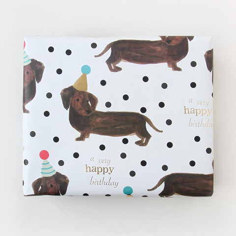 Sausage Dog Foil Wrapping Paper - insideout-home