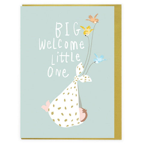 Big Welcome Little One Card - insideout-home