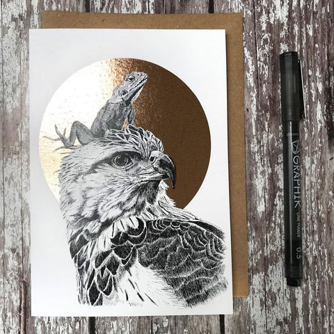 FF01 Grey Eagle & Lizard Foiled Card - insideout-home
