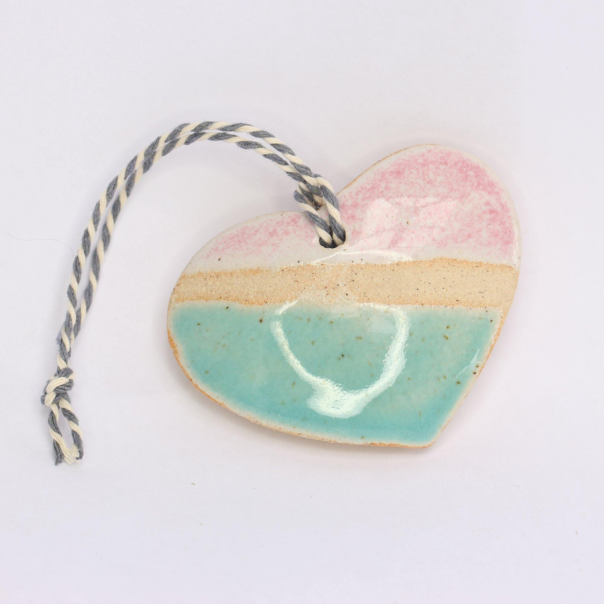 Two Tone Hanging Heart by  Insideout