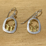 Rabbit and moon sterling silver earrings - insideout-home