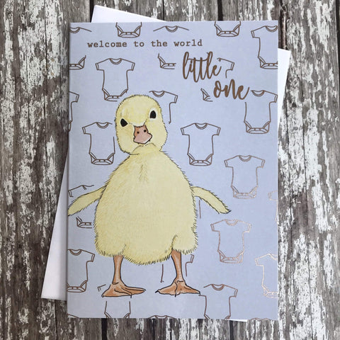 FA151 Welcome To The World Little One Card - insideout-home