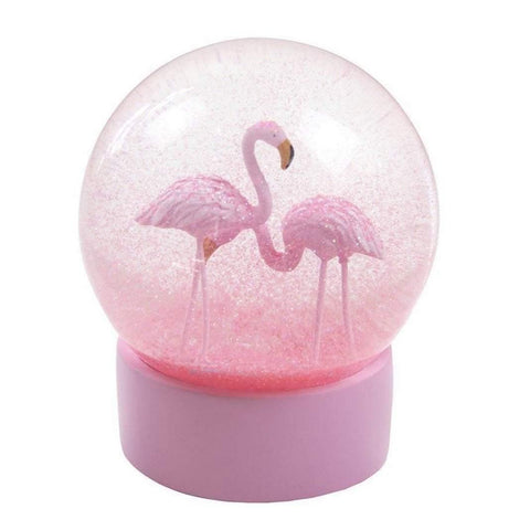 flamingo snow globe - insideout-home