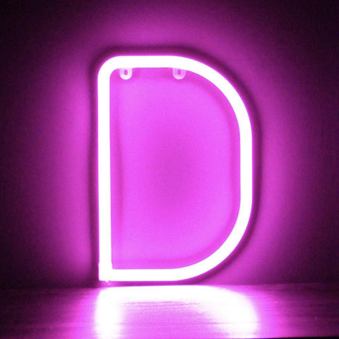Pink Neon Letters A-Z - insideout-home
