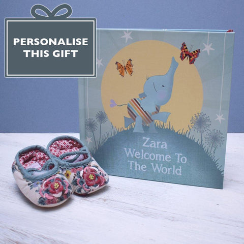 Personalised Welcome To The World Hardback Book - insideout-home