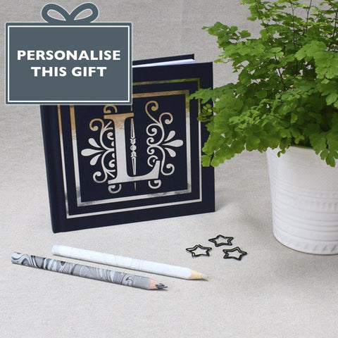 Monogram Foil Blocked Hardback Notebook - insideout-home