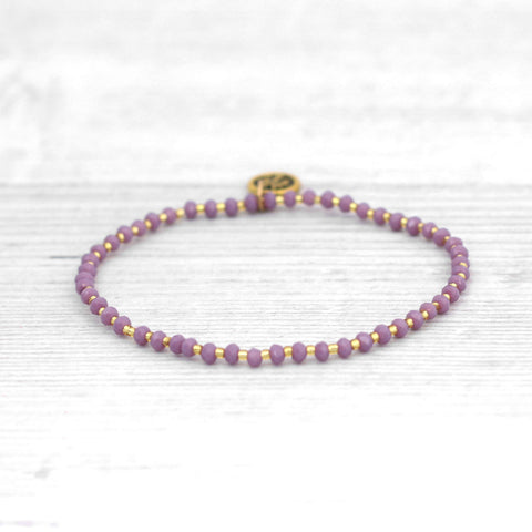 Seed Bead Bracelet Purple - insideout-home