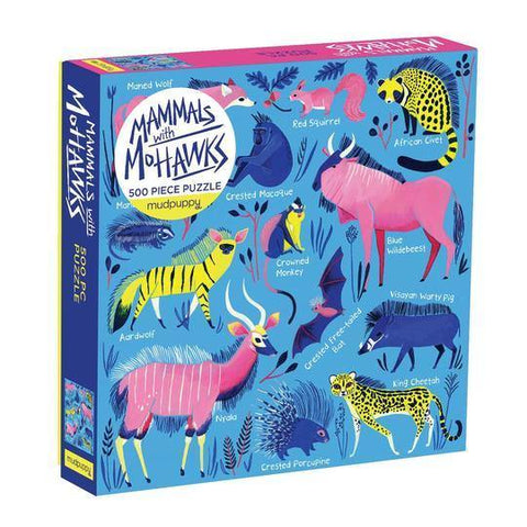 Mammals With Mohawks 500 Piece Jigsaw Puzzle - insideout-home