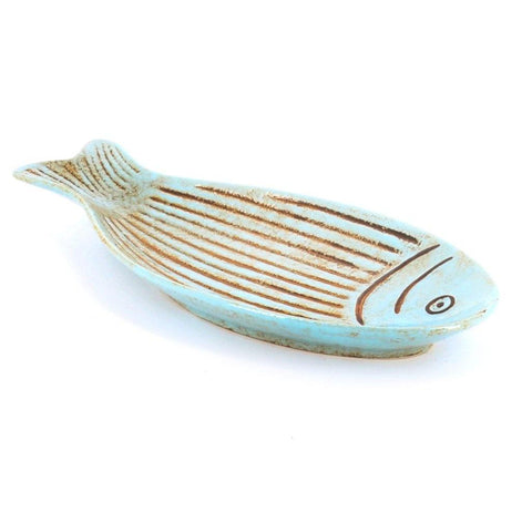 Blue Fish Plate Large - insideout-home