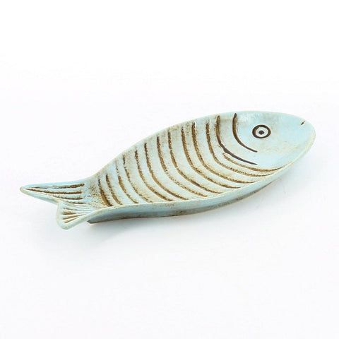 Blue Fish Plate Small - insideout-home
