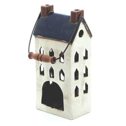 Small House Lantern Blue - insideout-home