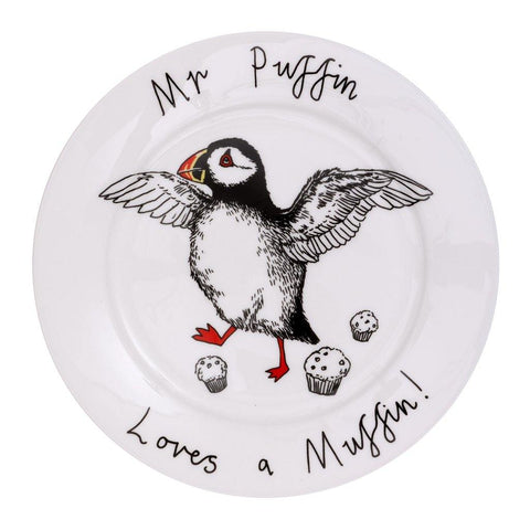 Mr Puffin Side Plate - insideout-home