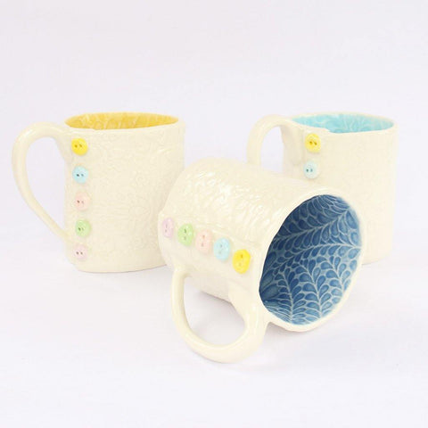 Porcelain Embossed Button Mug - insideout-home