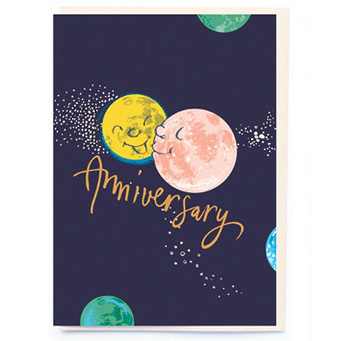 Kissing Moon Anniversary Card - insideout-home