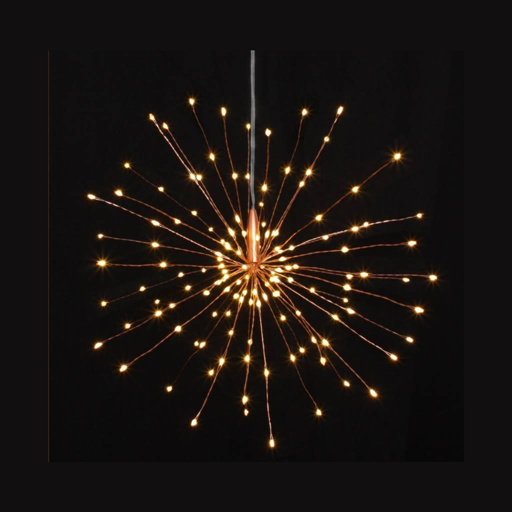 Copper Starburst Hanging Battery Operated, Lighting by Insideout