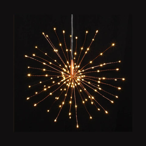 Copper Starburst Hanging Battery Operated - insideout-home