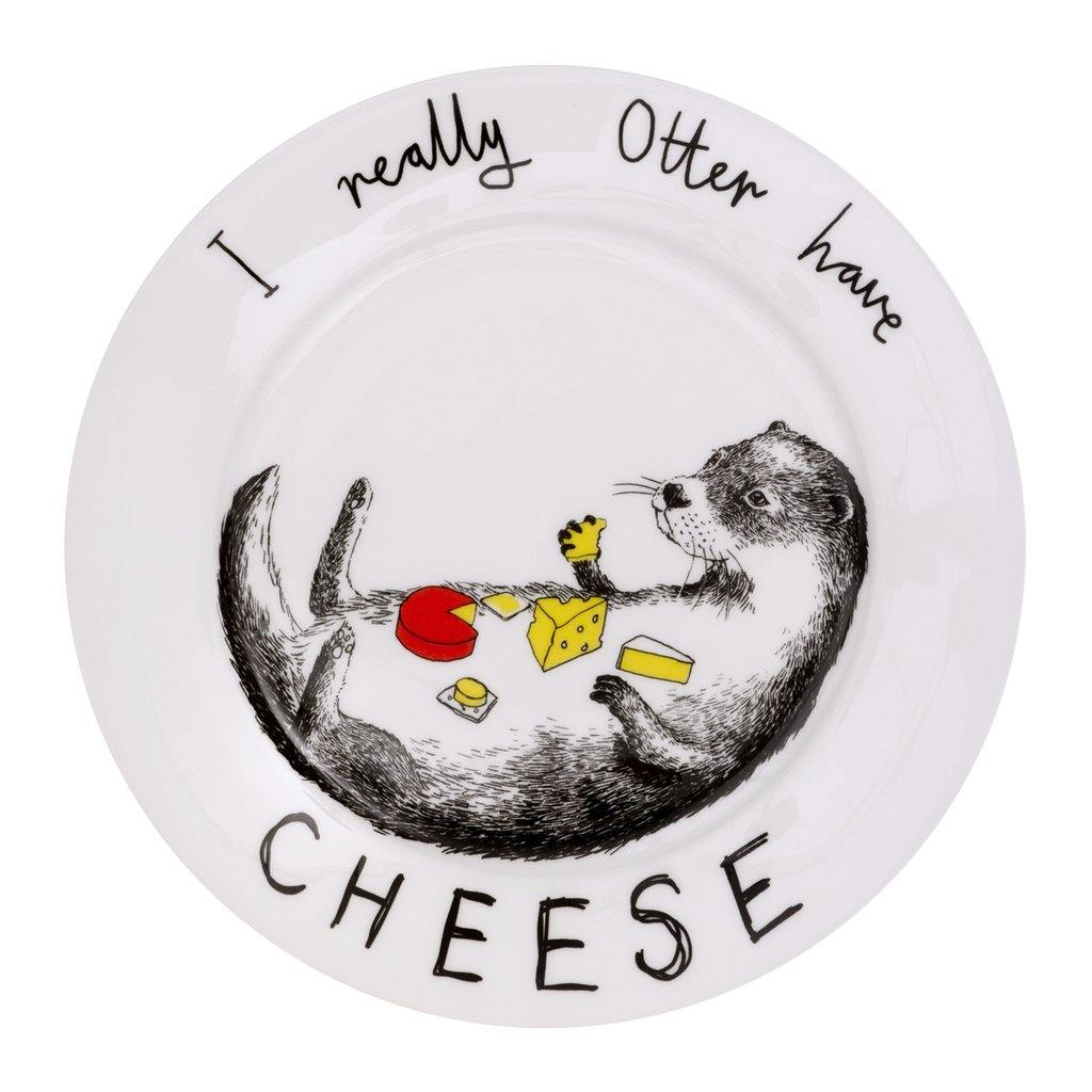 Otter Have Cheese Side Plate by  Insideout