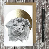 FF05 Pig & Spider Foiled Card - insideout-home
