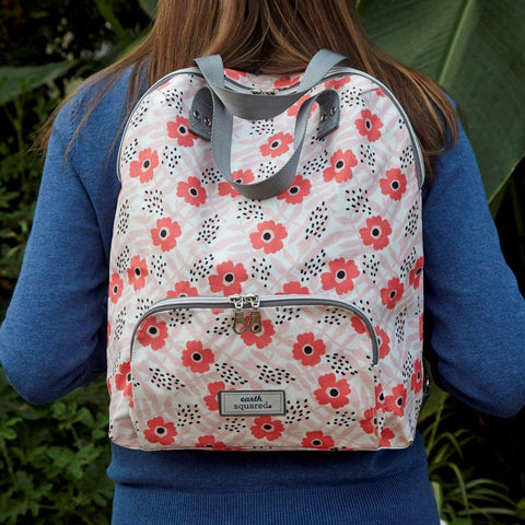 Spring Oil Cloth Backpack Poppy Pink - insideout-home