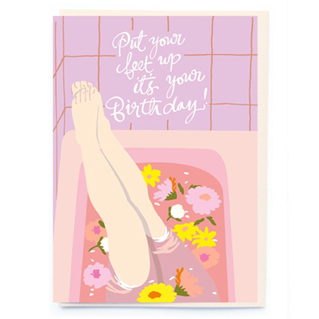 Put Your Feet Up Card, Gift Giving by Insideout