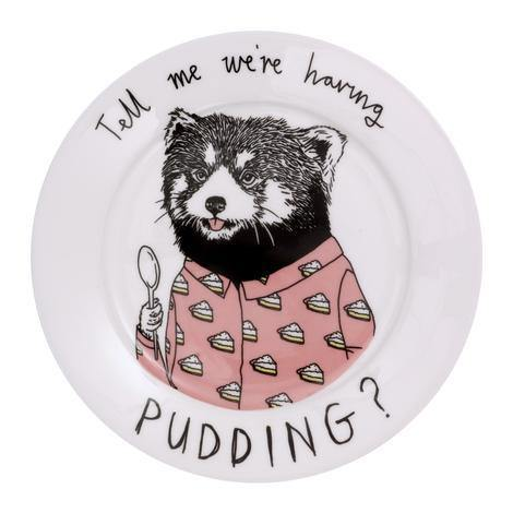 Tell Me We Are Having Pudding Side Plate, Food Service by Insideout