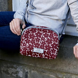 Red Flower Oil Cloth Halfmoon Bag - insideout-home
