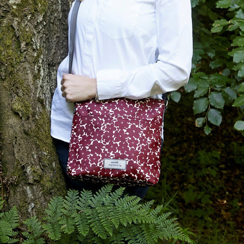 Red Flower Oil Cloth Messenger - insideout-home