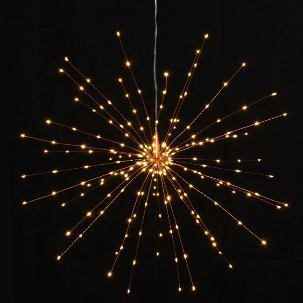 Copper Hanging Starburst 50cm Mains Operated, Lighting by Insideout