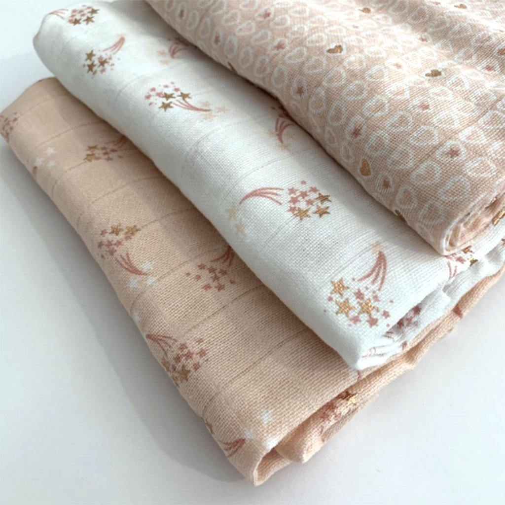 Rose Gold Muslin Square by  Insideout
