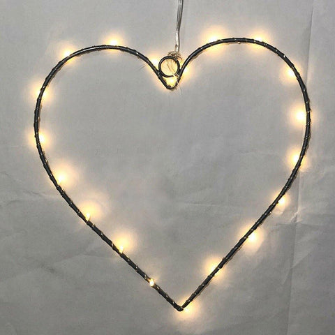 Silver Wire Heart Light - insideout-home