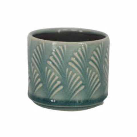 Turquoise Fan Mini Planter - insideout-home