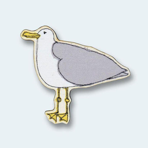 Seagull Wooden Magnet - insideout-home