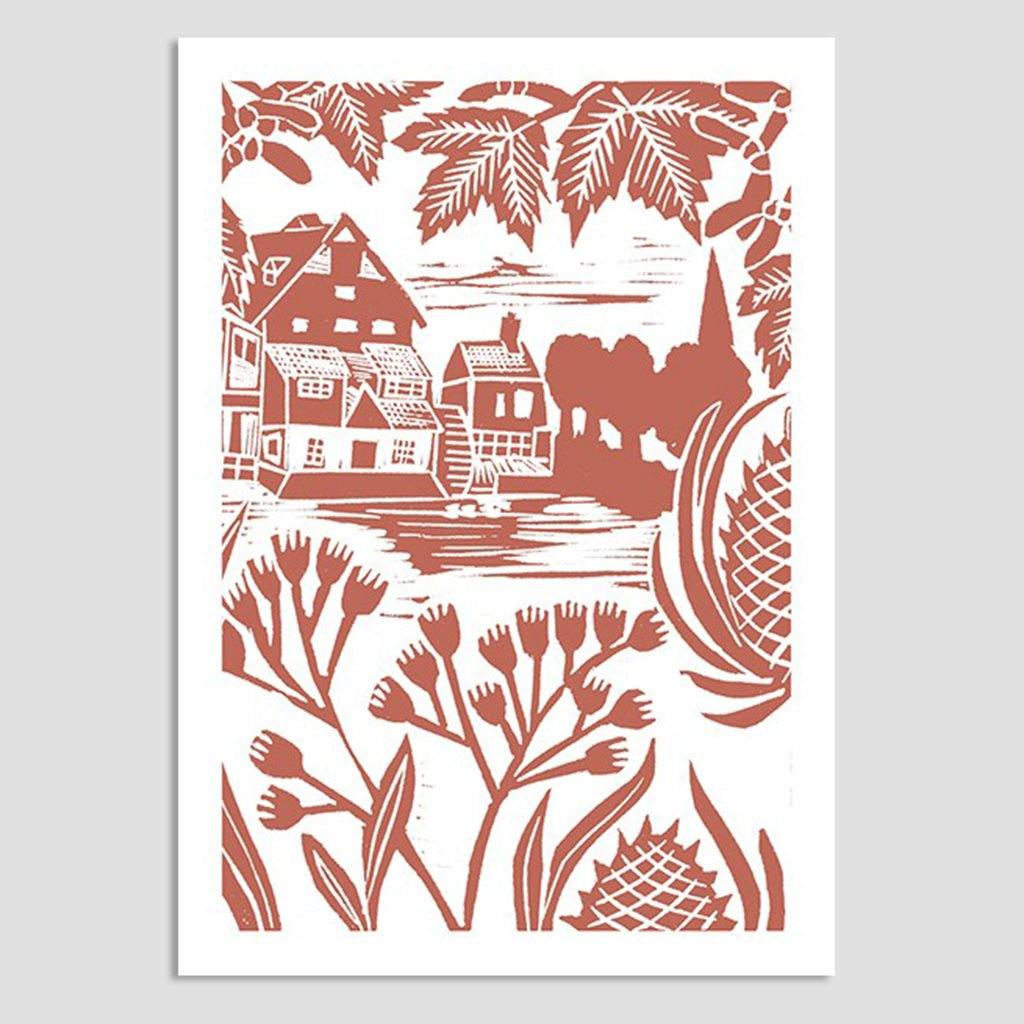 Mill Through The Branches Card, Arts & Crafts by Insideout