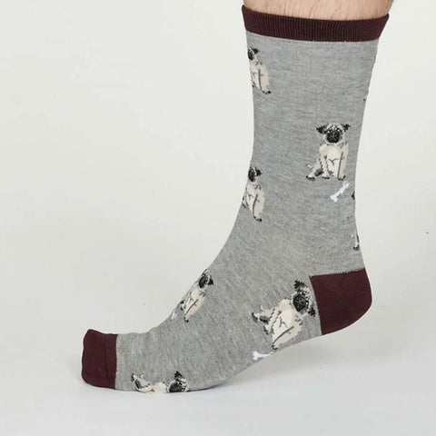 Lyman Bamboo Dog Mens Socks Grey Marle - insideout-home