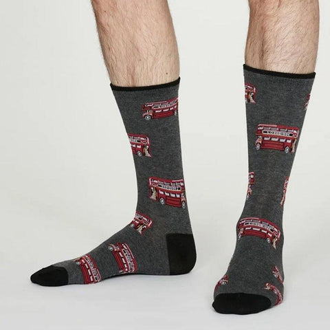 London Bamboo Socks London Bus - insideout-home