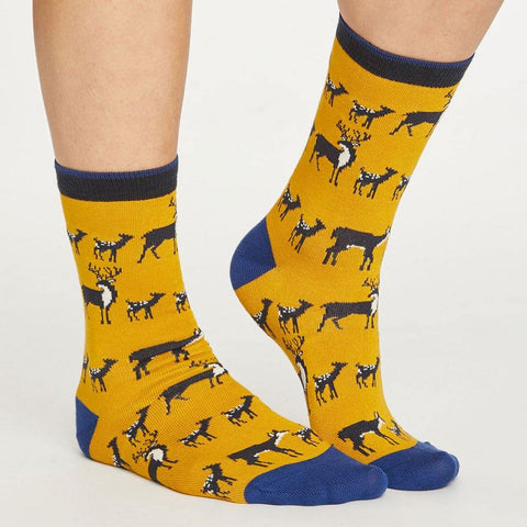 Animal Kin Socks Mustard - insideout-home