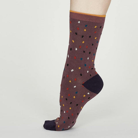 Emme Bamboo Spot Socks Dusty Pink - insideout-home