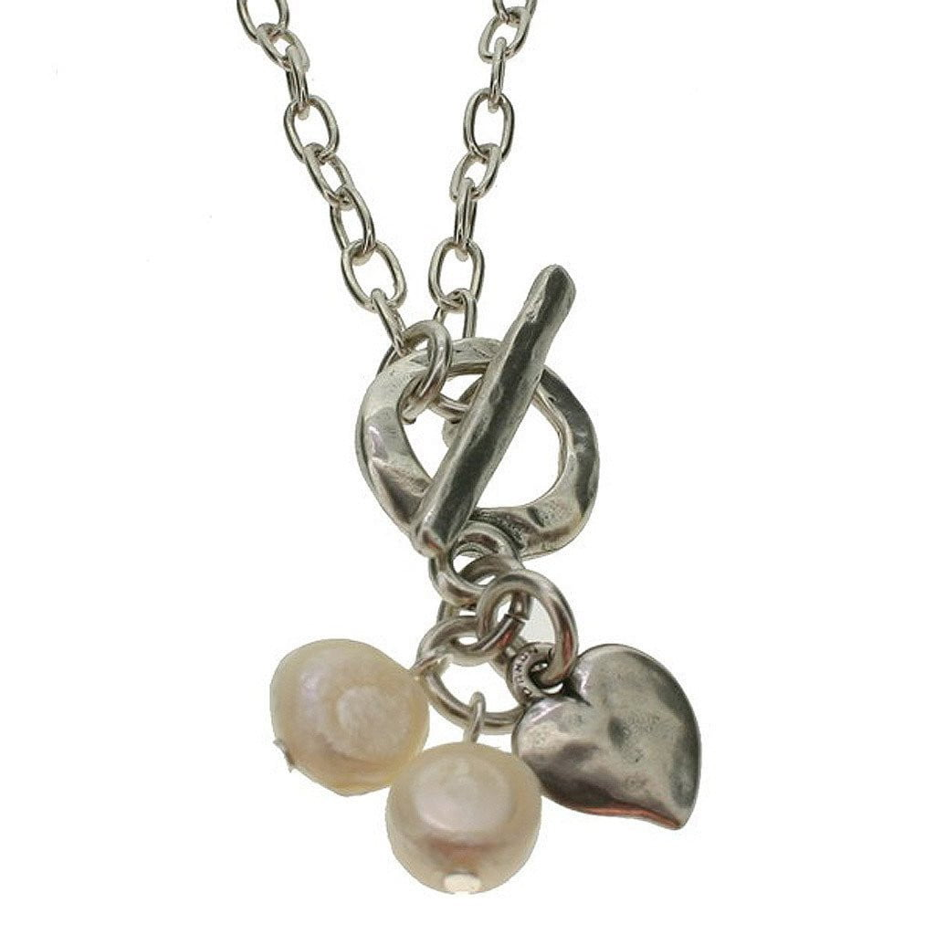 starinbar heart and freshwater pearl necklace by  Insideout