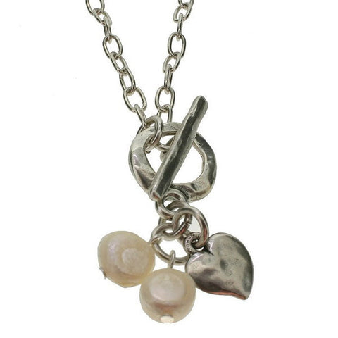 starinbar heart and freshwater pearl necklace