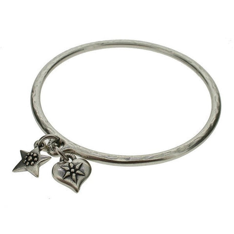 starinbar heart and star bangle