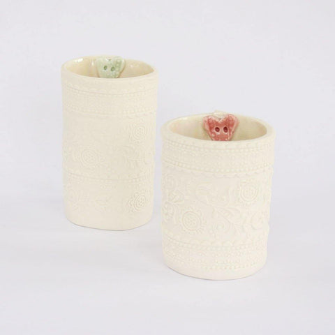 Embossed Porcelain Tea Light Holders - insideout-home